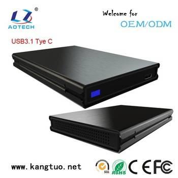 usb 3.1 type C external hard disk drive enclosure case