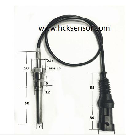 PT200 automobile exhaust gas exhaust temperature sensor