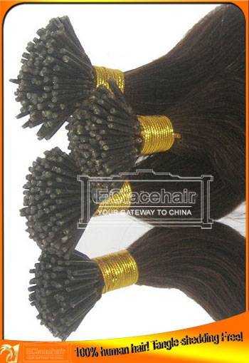 Wholesale Indian Brazilian Virgin Pre-bonded Human Hair Extensions,Factory Price