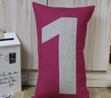 Linen printed scatter cushion