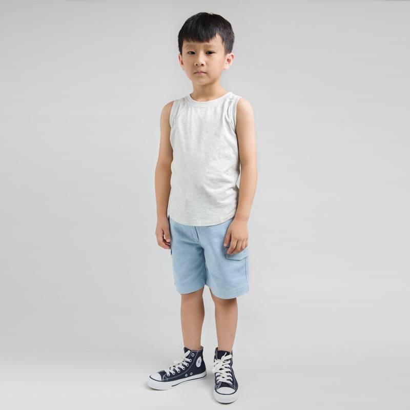 Smoky Gray Children Clothing Kids Wear Boys T-Shirt