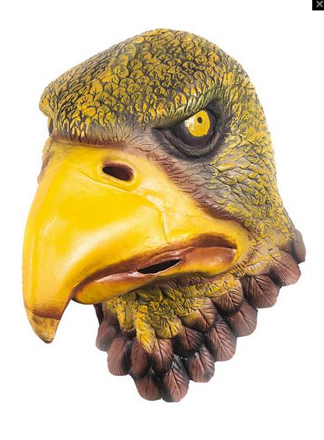 Youtumall Yellow Deluxe Eagle Latex Full Mask Costume
