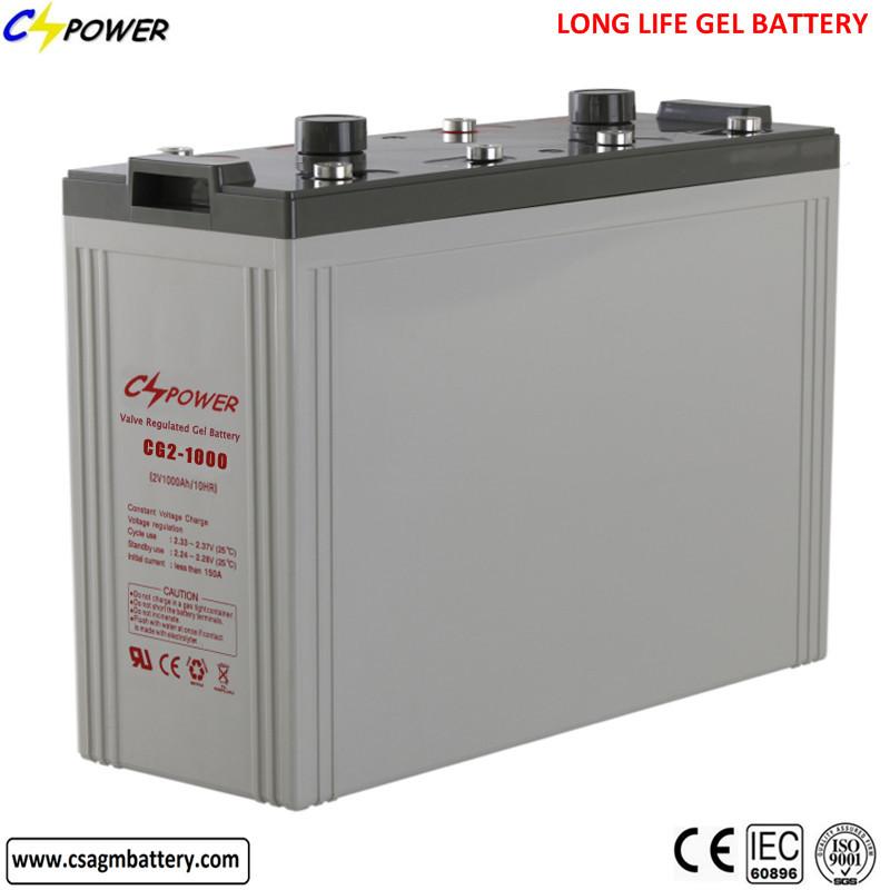 2v 1000ah mf deep cycle sealed gel storage battery for solar