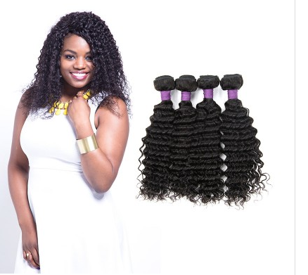 [9A]4 Bundles Brazilian Deep Wave Hair Weave
