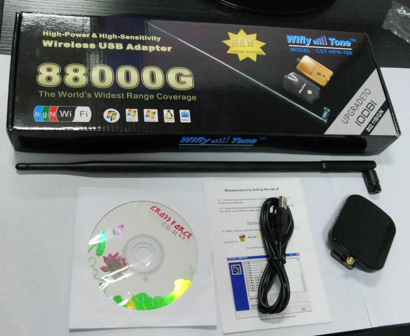 150Mbps High-power&High Sensitivity Wireless USB Adapter 10dbi WiFi Network Card USB 2.0 802.11b/g/n