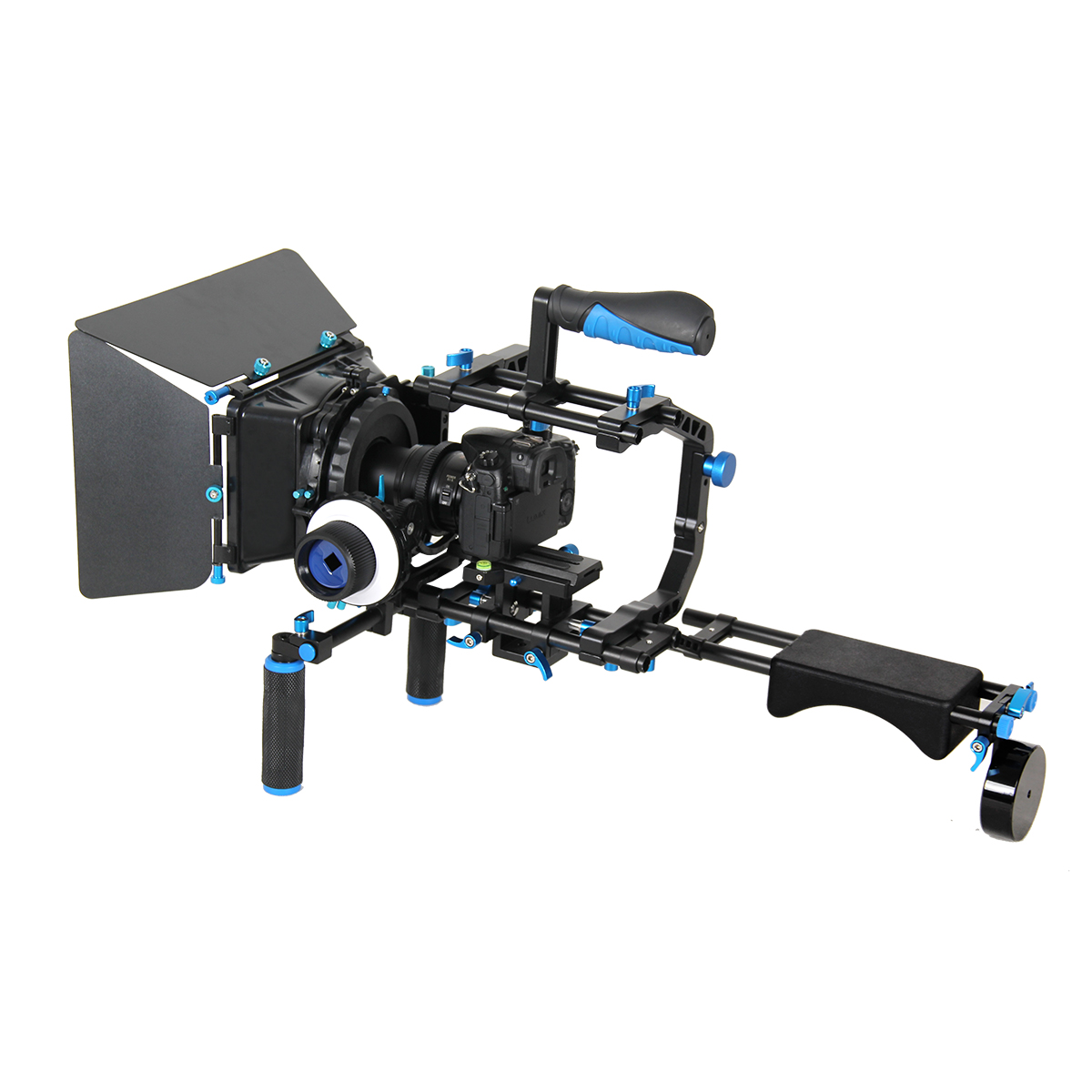 YELANGU Top Handle DSLR Shoulder Mount Rig Kit With Follow Focus, Matte Box