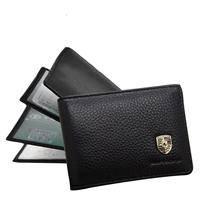 Leather card wallet for men