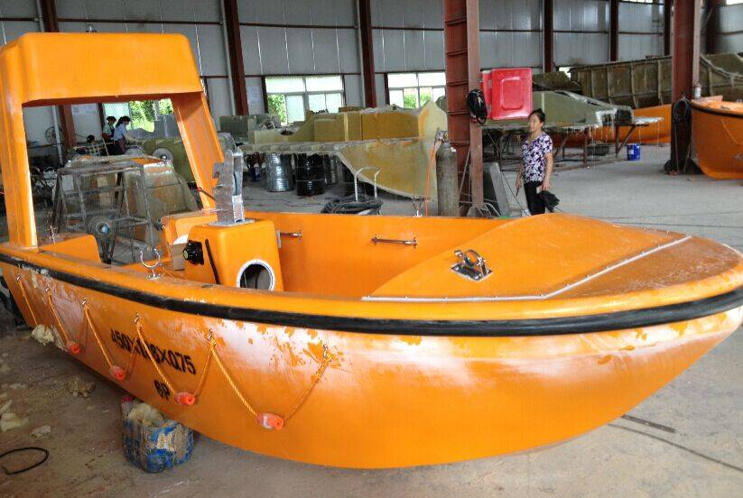 G.R.P Open rescue boat with SOLAS approved engine hot sales