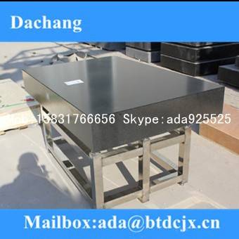 Granite surface plate -Granite plate with t-slots