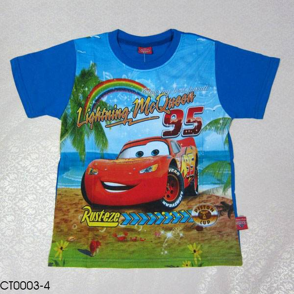 CT0003-4 boy's cartoon shirt