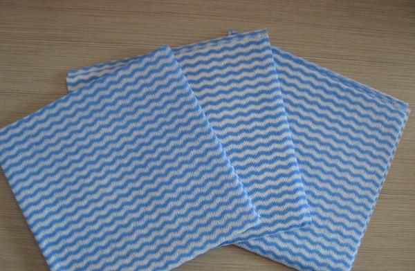 Blue mesh waved spunlace nonwoven fabric