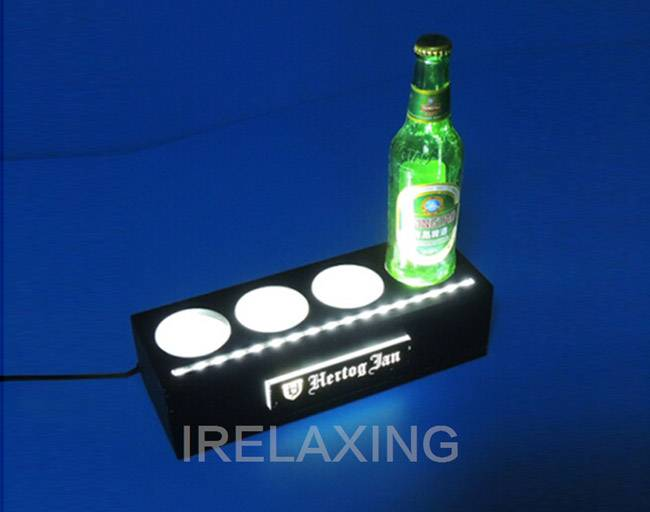 Beautiful led bottle display for bar