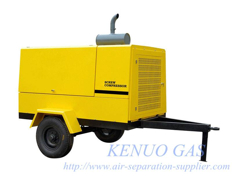 Movable Motor Drive Screw Air Compressor