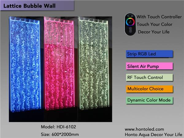 New Touch Control led bubble wall
