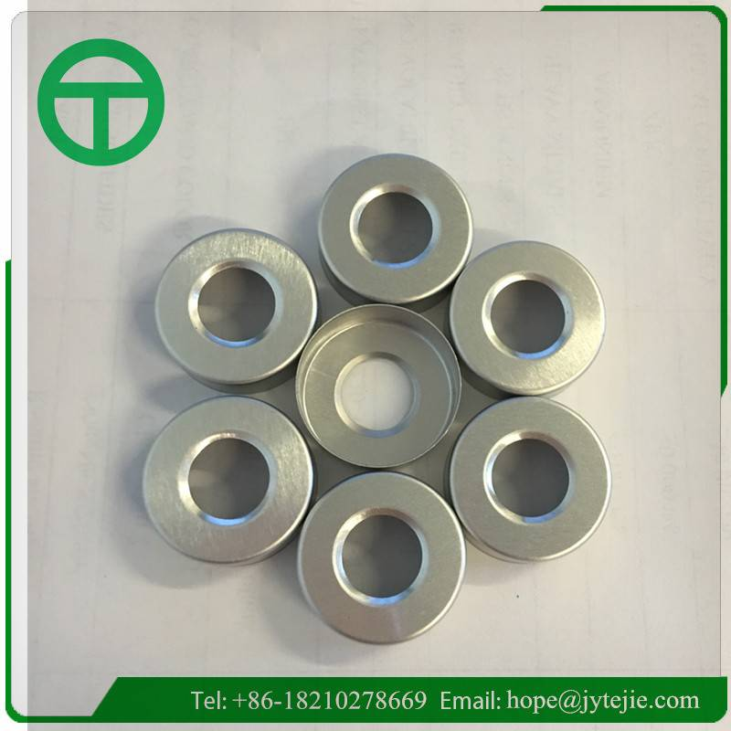20mm aluminium cap with central hole
