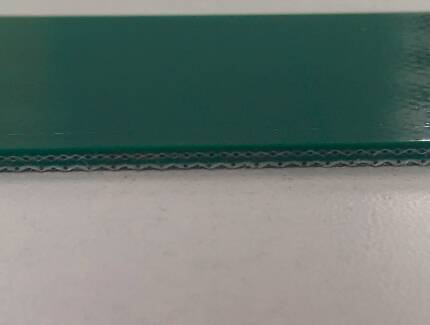 2.0 mm light duty PVC conveyor belt with Green color for all light industry