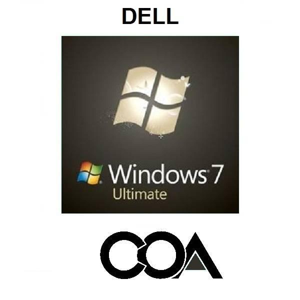 Microsoft Windows 7 Ultimate DELL COA Sticker