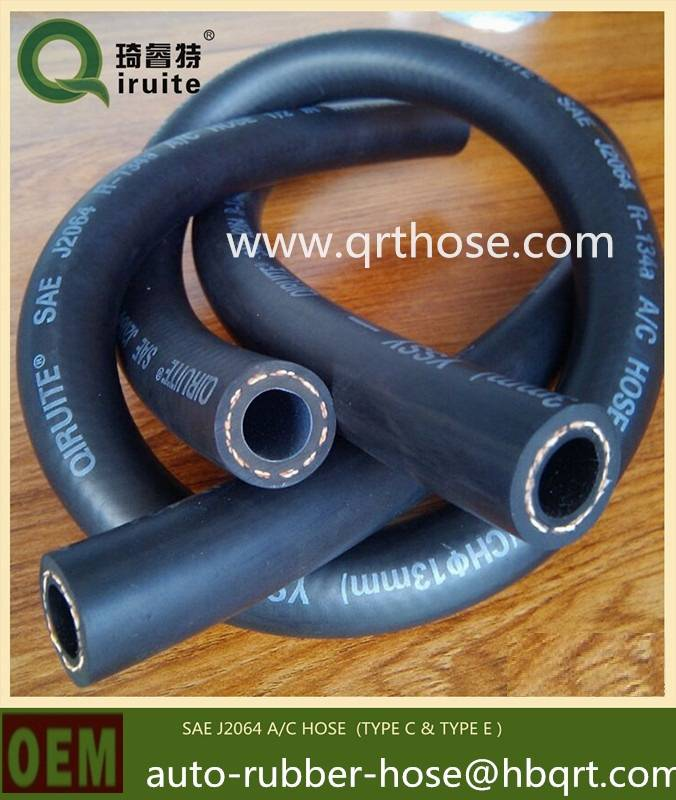 automotive A/C hose for refrigerant R12, R134a, R404a, 1234yf