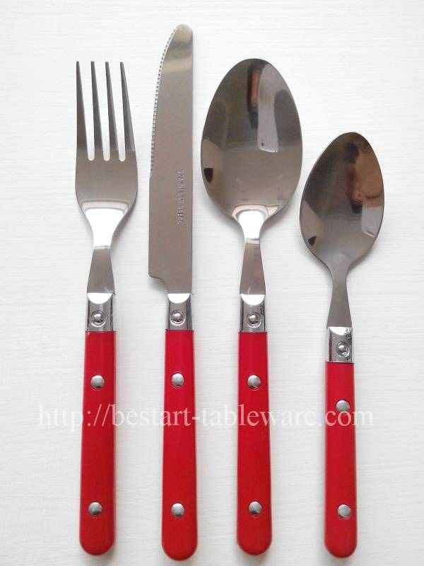T013 Plastic Handle Cutlery