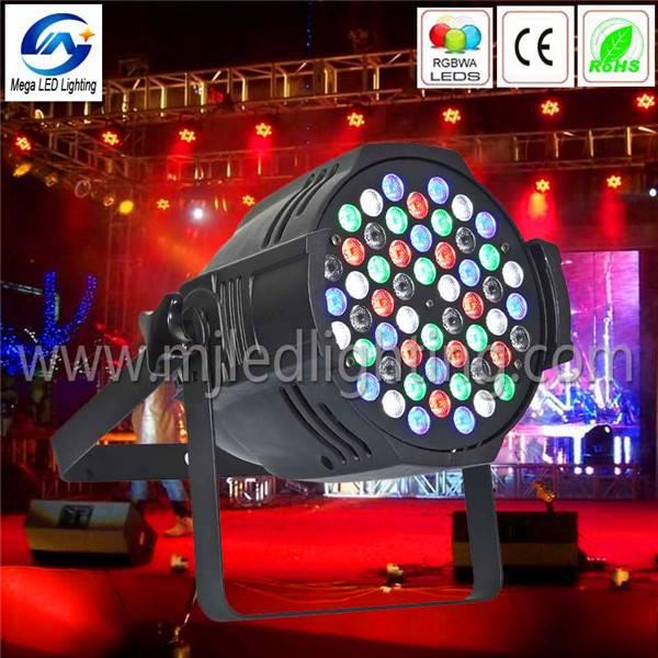 High power Five color led stage light RGBWA 54 3w led par64