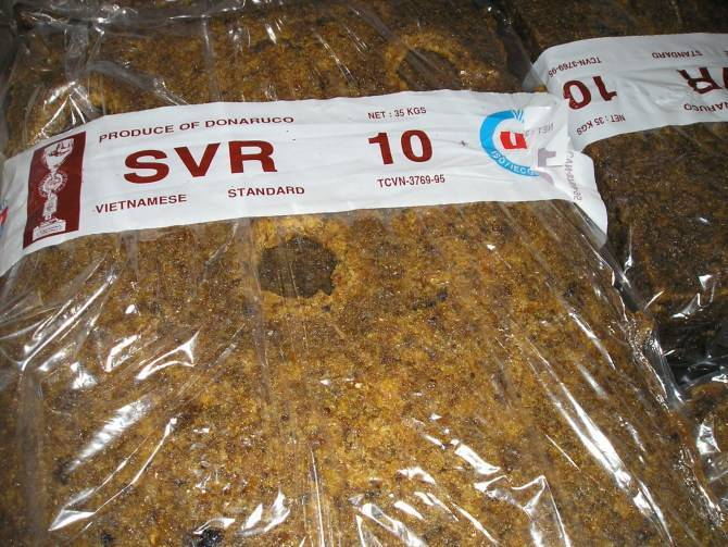 Purchasing natural rubber:SVR10