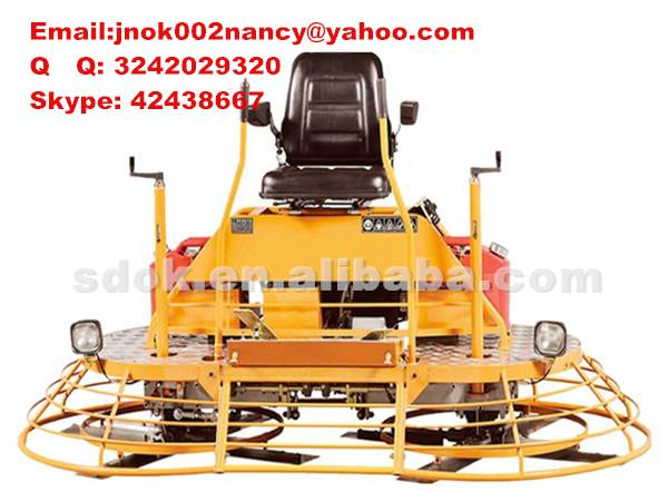 2015 Factory price 2m Ride-on Driving type Concrete Finishing Power Trowel Machine