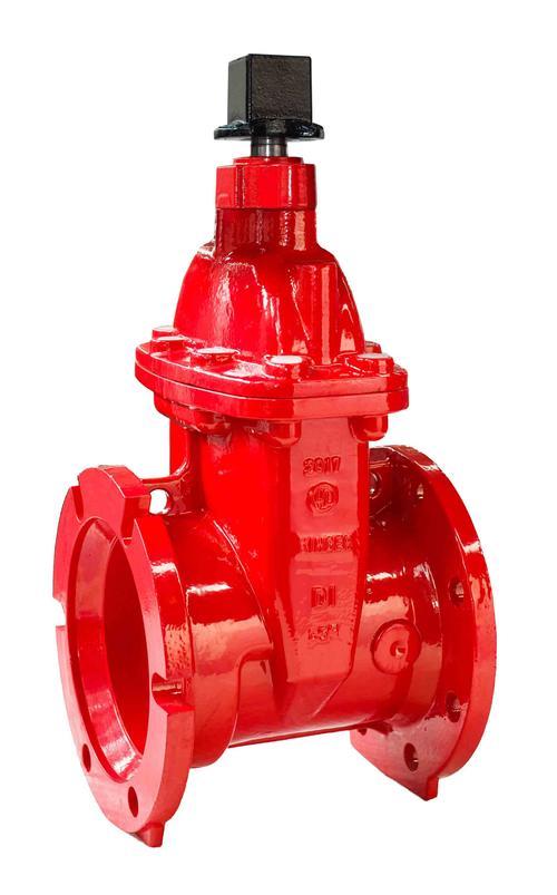 Iron wedge gate valve AWWA C515 UL/FM certified