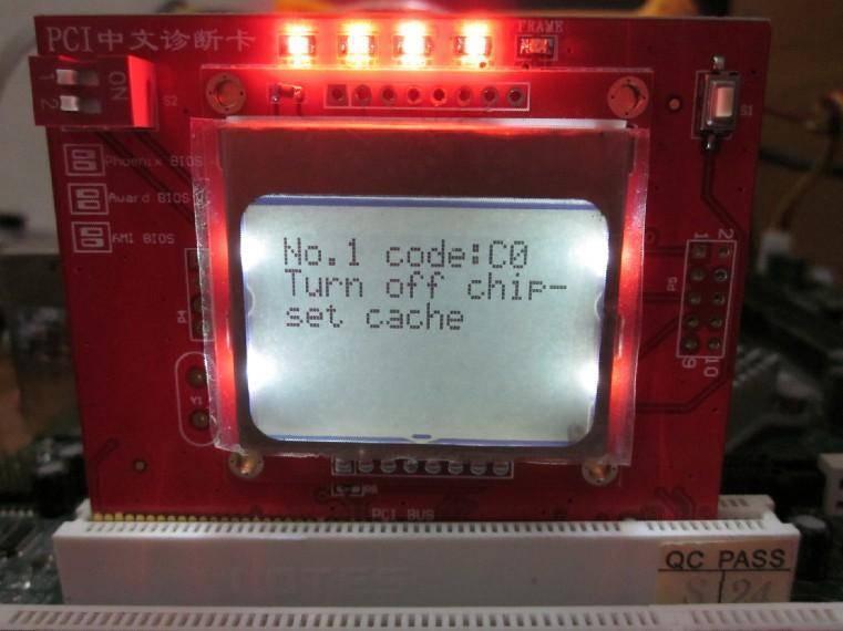 PCI LCD Intelligent Analyzer Card for Desktop