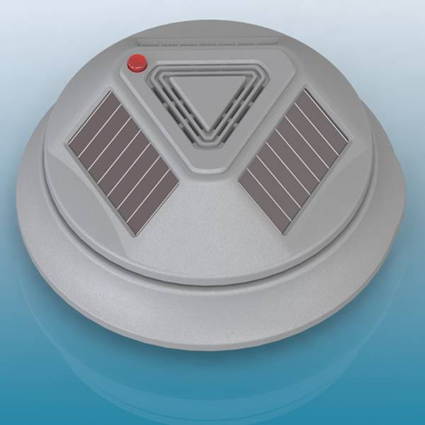 Solar wireless photoelectric smoke detector
