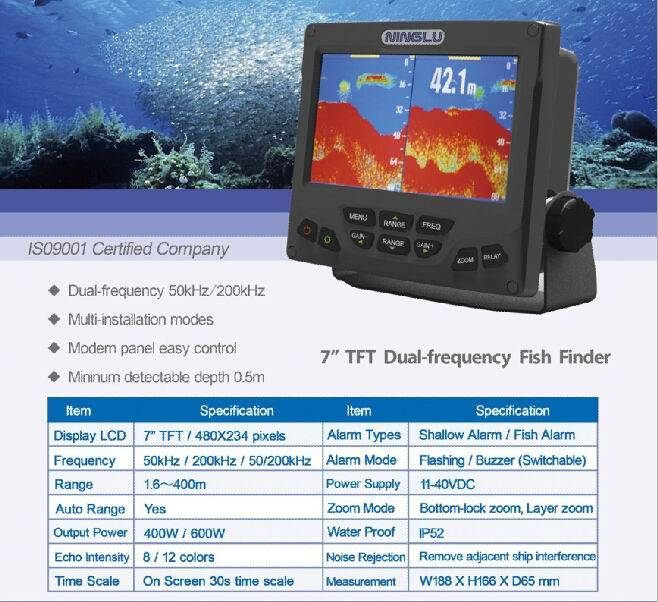 7 inch TFT Dual-Frequency Fish Finder(Sino-Norway SKIPPER)
