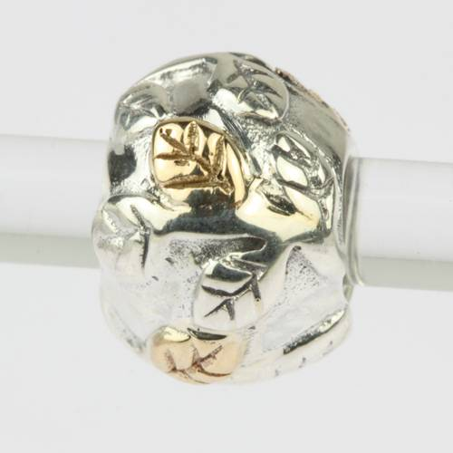 sterling silver charms beads with 14ct gold