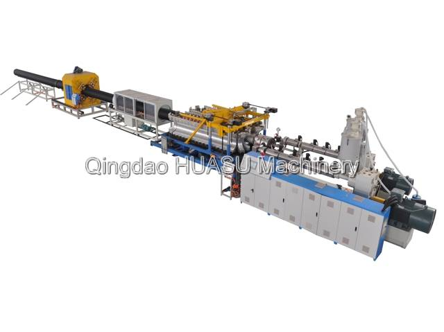 SBG400 HDPE/PP Double Wall Corrugated Pipe Extrusion Line
