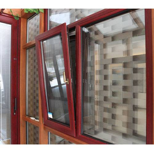 FM90 aluminum wood tilt-turn window with Double Glazed