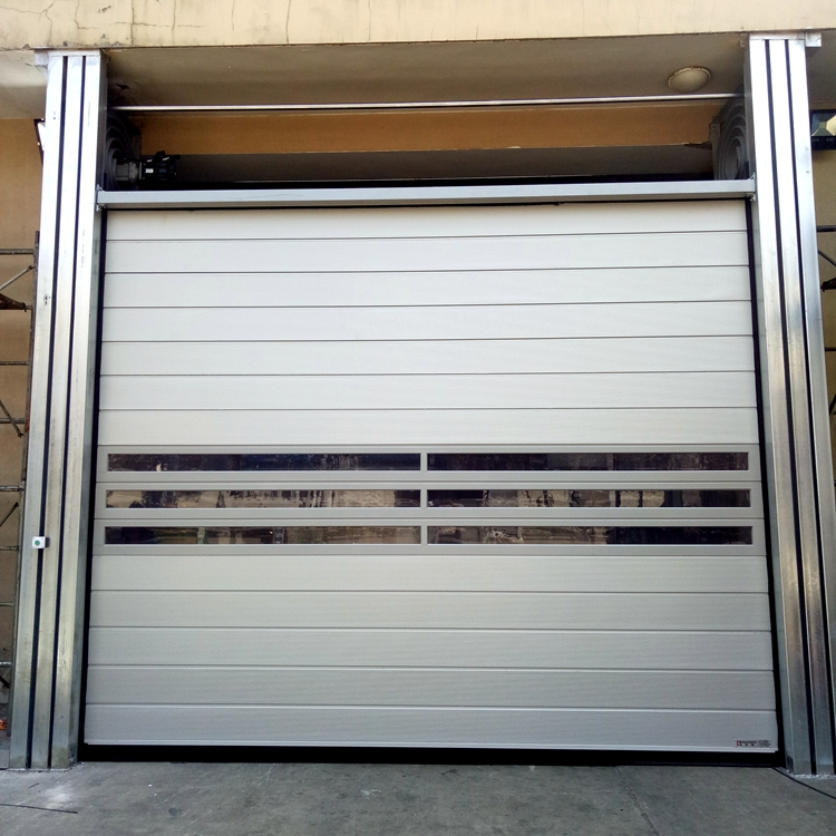 Thermal Insulated metal Roller Shutter High speed Door for Warehouse
