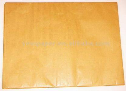 unblerached ribbed kraft paper golden yellow super deulux 32 up to 38 gsm