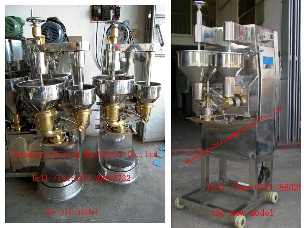beef , fish , chicken , shrimp ball , and vegetable ball making machine with stuff in center