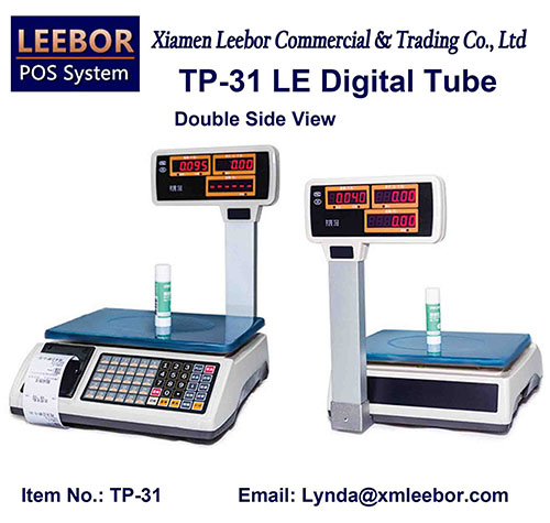 Electronic Pricing Retail Scale, Supermarket Cash Register Receipt Printing Platform Weighing Scales