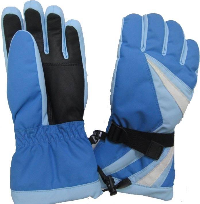 Skiing winter gloves