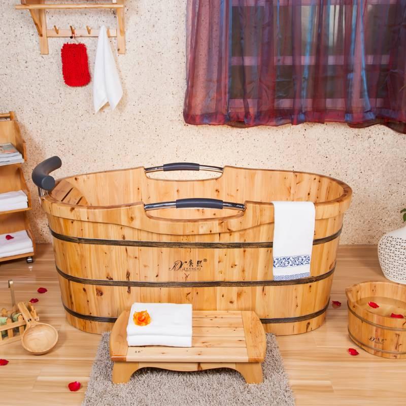Portable wooden massage tub classical wooden bathtub