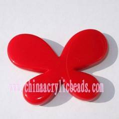 butterfly beading, acrylic beads, natural color bead-SAB001