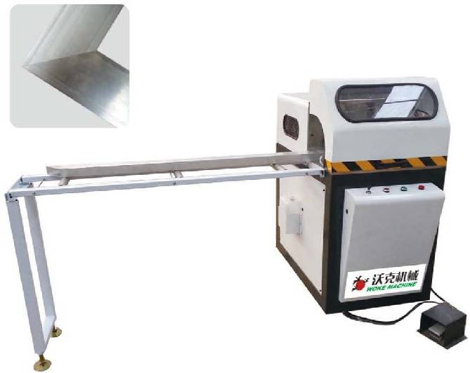 Aluminum window door 45 degree angle cutting machine