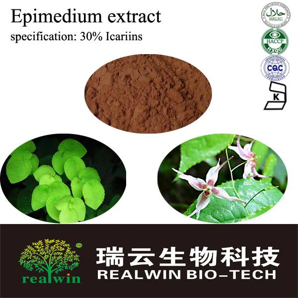 Natural Epimedium extract/Epimedium leaf extract/ Icariins