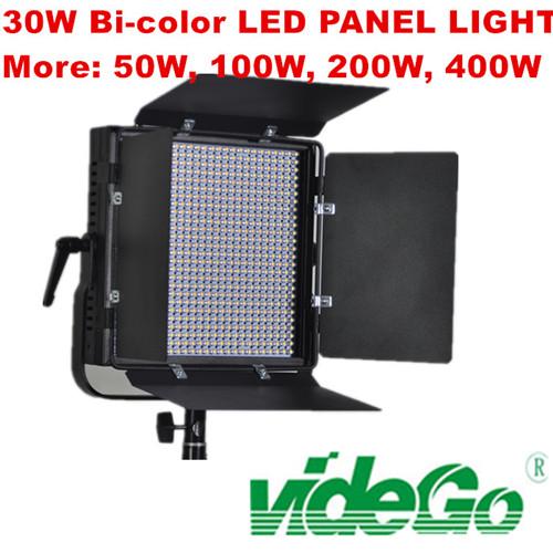 videGo LED Video Panel Light/Daylight/bi-color/Tungsten/50w bi color/100w 1x1 soft video light/broad