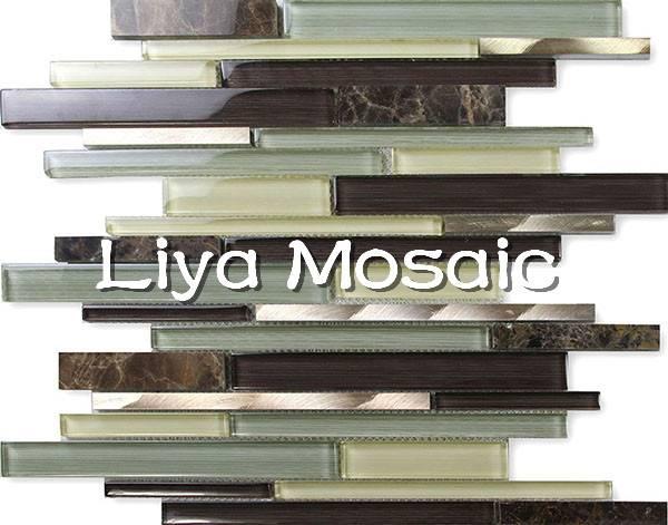 Glass stone mosaic(SNL19805)