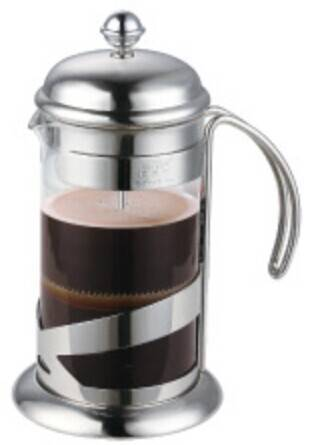 High quality 1liter 304# Stainless steel french press coffee maker