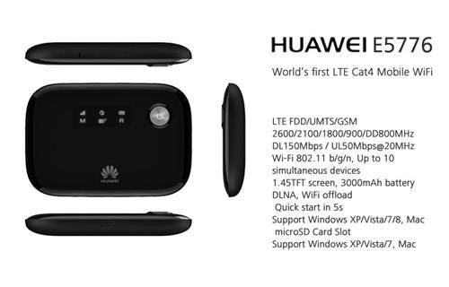 HUAWEI E5776 4G Mobile Broadband Wireless WIFI Hotspot Modem Router