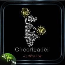 Wholesale cheer leader rhinestone transfer for shirts