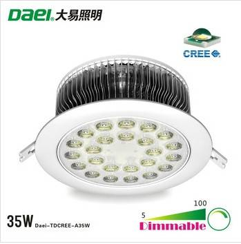 American CREE brand LED high power, LED commercial lighting fixtures , 35WLED ceiling light , LED sp