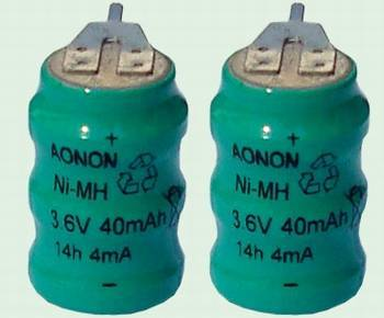 rechargeable NiMH button cell pack