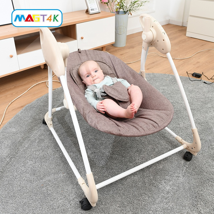 Bluetooth Connect Music Swing Chair Baby Rocking Chair With Removable Mobile Toy Children Hanging Sw
